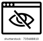 private browsing on icon | Shutterstock .eps vector #735688810