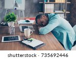 sweet dreams in the work... | Shutterstock . vector #735692446