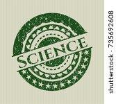 green science distress grunge... | Shutterstock .eps vector #735692608
