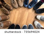 shoes styles collection... | Shutterstock . vector #735694024