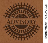 advisory badge with wood... | Shutterstock .eps vector #735699268