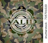valid on camouflaged pattern | Shutterstock .eps vector #735701020