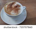 cappuccino coffee | Shutterstock . vector #735707860