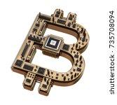 3d illustration of computer... | Shutterstock . vector #735708094