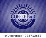 coffee bar with denim texture | Shutterstock .eps vector #735713653