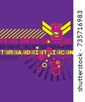 geometric design colorful... | Shutterstock .eps vector #735716983