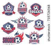soccer club  football sport... | Shutterstock .eps vector #735726568