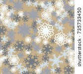 seamless pattern. snowflakes in ...