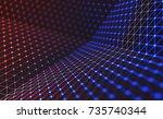 3d illustration  embossed mesh... | Shutterstock . vector #735740344