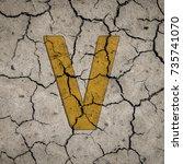 colorfull alphabet letters on... | Shutterstock . vector #735741070