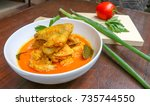 chicken curry  culinary  ... | Shutterstock . vector #735744550