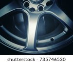 close up of rim  new car alloy... | Shutterstock . vector #735746530