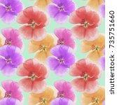 geranium  cranesbill ... | Shutterstock . vector #735751660