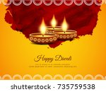 abstract artistic happy diwali... | Shutterstock .eps vector #735759538