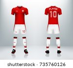3d realistic of front and back ... | Shutterstock .eps vector #735760126