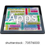 a tablet computer with many... | Shutterstock . vector #73576033