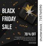 black friday sale background... | Shutterstock .eps vector #735764590
