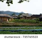 korea andong village | Shutterstock . vector #735765523
