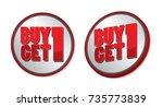 buy 1 get 1   Shutterstock .eps vector #735773839