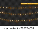 christmas lights isolated... | Shutterstock .eps vector #735774859