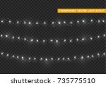 christmas lights isolated... | Shutterstock .eps vector #735775510