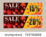 autumn sale background template.... | Shutterstock .eps vector #735783808