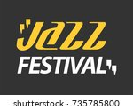 jazz musical art poster ... | Shutterstock . vector #735785800