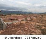 dam construction. | Shutterstock . vector #735788260