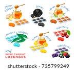 cough drops. sore throat remedy ... | Shutterstock .eps vector #735799249