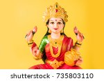 idol worshipping of hindu... | Shutterstock . vector #735803110