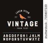 bird vintage logo flat isolated ... | Shutterstock .eps vector #735807220