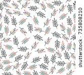 seamless vector pattern.... | Shutterstock .eps vector #735808210