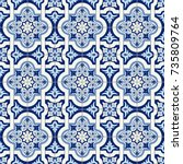 gorgeous seamless pattern white ... | Shutterstock .eps vector #735809764
