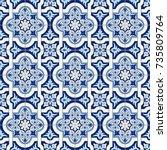 gorgeous seamless pattern white ... | Shutterstock .eps vector #735809764