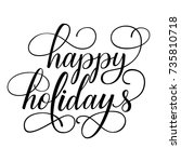 happy holidays fancy... | Shutterstock .eps vector #735810718