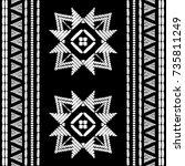 aztec embroidery pattern design ... | Shutterstock .eps vector #735811249