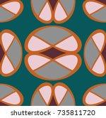 modern geometric pattern design ... | Shutterstock .eps vector #735811720