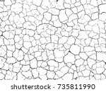 the cracks texture white and... | Shutterstock .eps vector #735811990