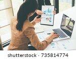 business concept. business... | Shutterstock . vector #735814774