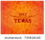 don't mess with texas on orange ... | Shutterstock .eps vector #735818140