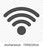wi fi icon   Shutterstock .eps vector #735822016