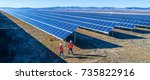 solar power station | Shutterstock . vector #735822916