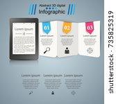 ebook. book reader   business... | Shutterstock .eps vector #735825319
