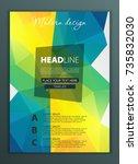 modern vector abstract brochure ... | Shutterstock .eps vector #735832030
