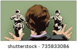 stock illustration. people in... | Shutterstock .eps vector #735833086
