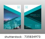 annual report brochure layout...   Shutterstock .eps vector #735834973