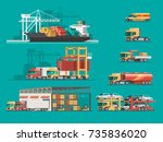 delivery service concept....   Shutterstock .eps vector #735836020
