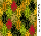 modern geometric pattern design ... | Shutterstock .eps vector #735837574