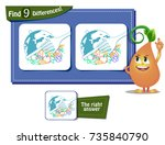 visual game for children and... | Shutterstock .eps vector #735840790