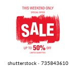 sale banner layout design | Shutterstock .eps vector #735843610